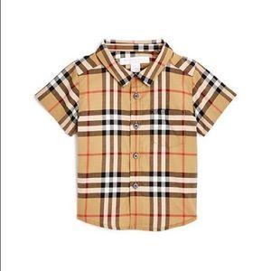 Burberry toddler kids button down shirt